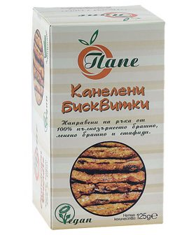 "Biscuits, cinnamon, wholegrain, ""Pape"", 125g"