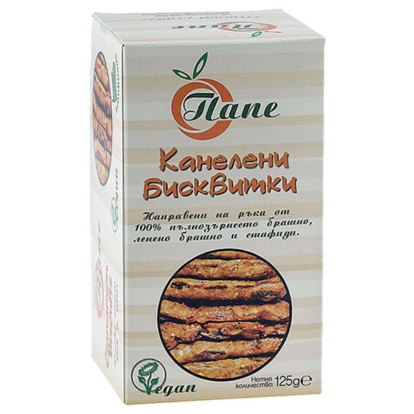 """Biscuits, cinnamon, wholegrain, """"Pape"""", 125g"""