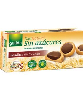 "Biscuits ""Ronditas"" with dark chocolate without sugar Gullon 186g"