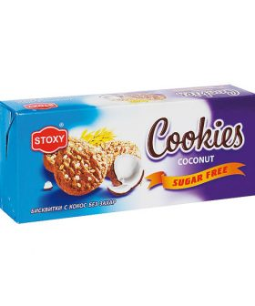 """Biscuits Cookies with Coconut, Without Sugar, """"Stoxy"""", 180g"""