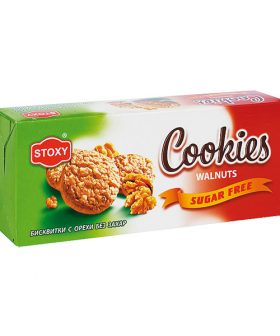 """Biscuits Cookies with walnuts, without sugar, """"Stoxy"""", 180g"""