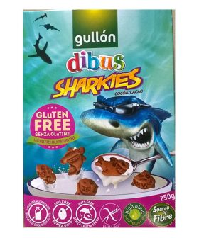 "Biscuits Sharkies with Cocoa, Gluten Free, ""Gullon"", 250g"