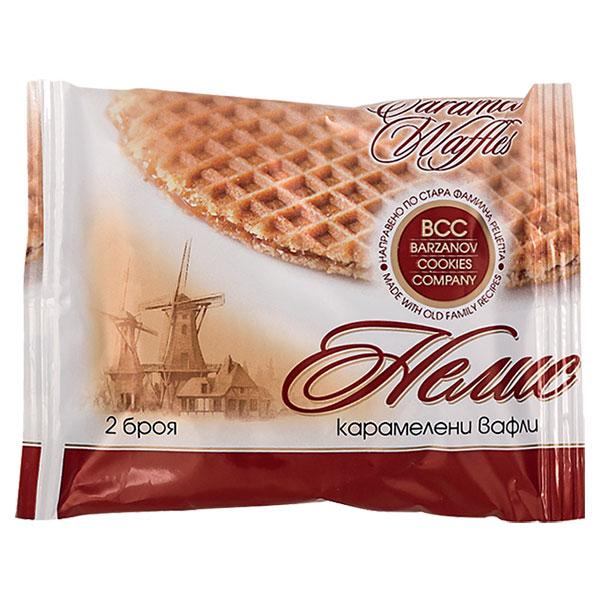 Waffles, caramel, Nelis, 2pcs, 65g