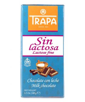 "Chocolate ""Trapa"" - milk without lactose 100g"