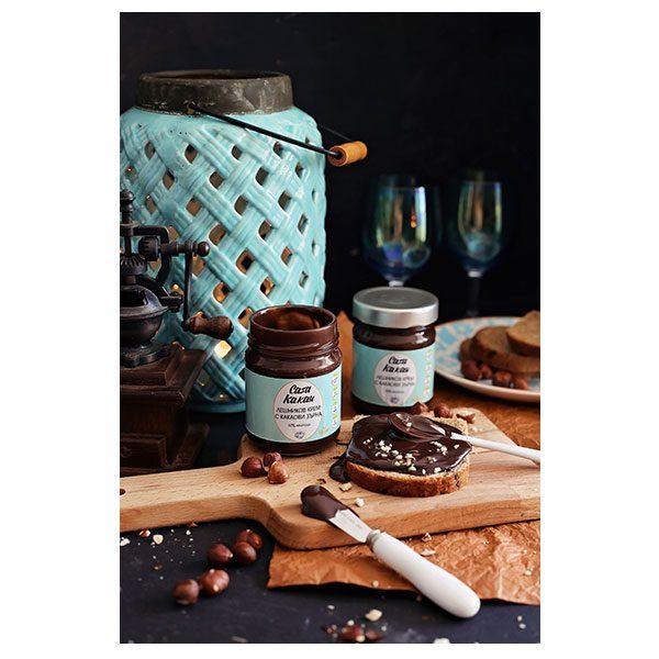 """Лешников крем с какаови зърна, занаятчийски, """"Casa Kakau"""""""