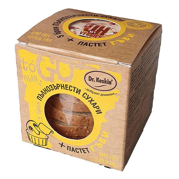 Paket-pylnozyrnesti-sukhari-i-pastet-gybi-Vegan-To-Go,-120g
