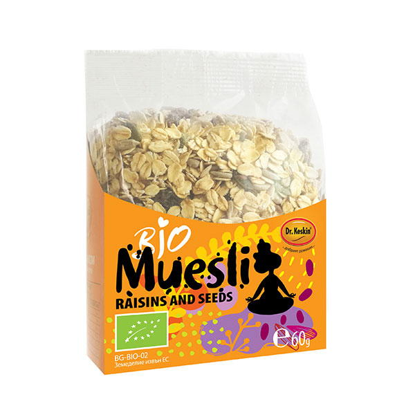 "Organic Muesli Seeds and raisins ""Dr. Keskin"""