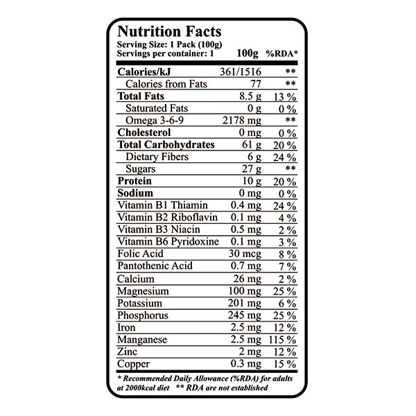 "nutritional value of protein oat bar, Flapjack ""My Fit Snack"""