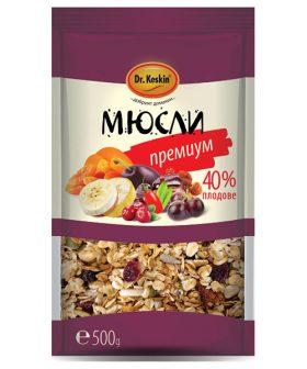 """Мюсли Премиум 40 процента плодове """"Д-р Кескин"""""""