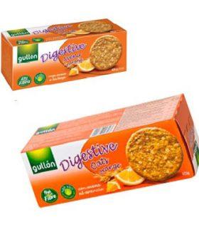 """Бисквити Дайджестив с овесени ядки с портокал, без захар, """"Gullon"""""""