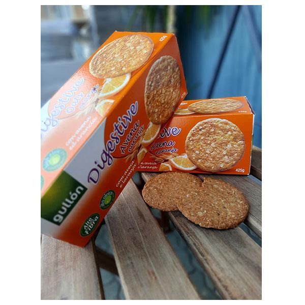 """Бисквити Дайджестив с овесени ядки с портокал, 425гр, """"Gullon"""""""