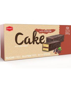 """Кейк какао, без глутен, със стевия, """"Стокси"""", 180гр"""