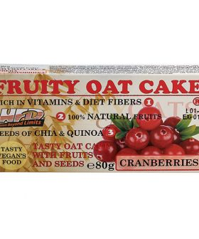 Протеинов овесен кейк, Червена боровинка и семена, 80гр