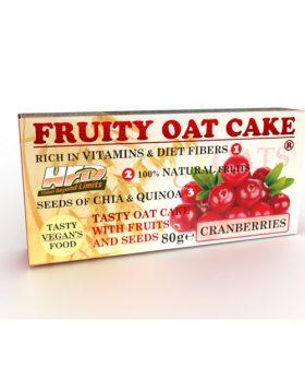 Протеинов овесен кейк, Червени боровинки и семена, 80г