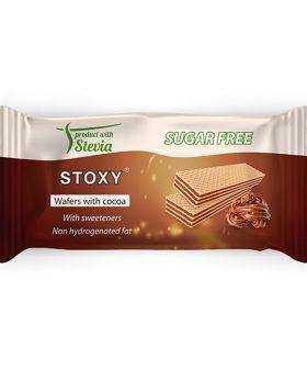 """Вафли с шоколад и стевия, """"Стокси"""", 150гр"""