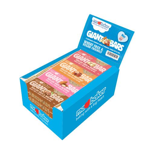"Енергиен овесен кейк ""Ma Baker"", орех, 90гр, микс 20 броя в кутия"