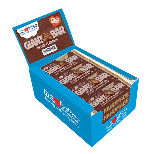 "Energy oatmeal cake ""Ma Baker"", pecans, 90g, box of 20 pieces"