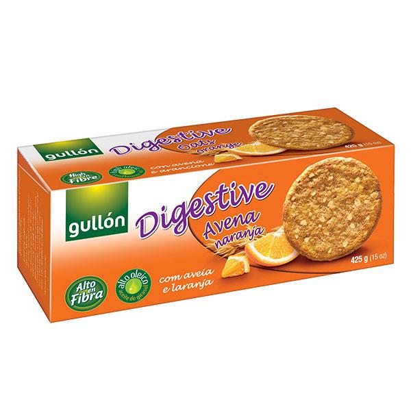 "Бисквити Дайджестив с овесени ядки с портокал, ""Gullon"", 425гр"
