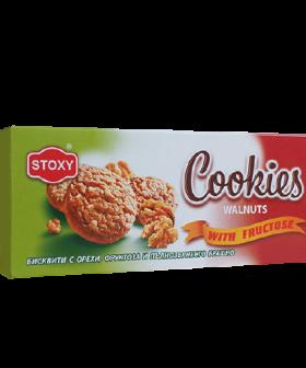 """Бисквити с орехи, фруктоза и пълнозърнесто брашно """"Стокси"""", 180гр"""