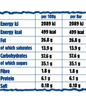 """Хранителна диаграма Енергиен овесен кейк """"Ma Baker"""", шоколад, плодове и ядки, 100гр"""