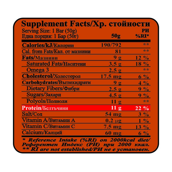 Nutrition-chart-protein-bar-cherry-brownie-50g