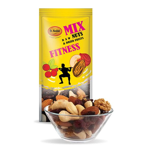 "Микс Фитнес, сурови ядки и сушени плодове, ""Д-р Кескин"", 80гр"