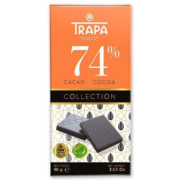 """Шоколад """"Трапа"""" 74 процента какао, веган, без глутен, 90гр"""