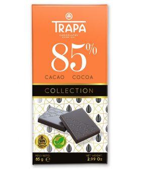 """Шоколад """"Трапа"""" 85 процента какао, веган, без глутен, 85гр"""