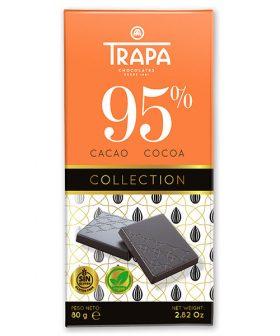 """Шоколад """"Трапа"""" 95 процента какао, веган, без глутен, 80гр"""