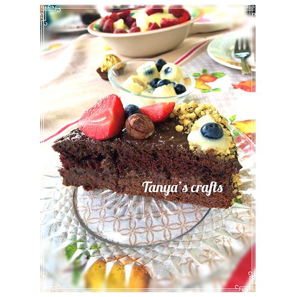 """Шоколадова торта с натурален шоколад Трапа 50% какао със стевия """"Д-р Кескин"""""""