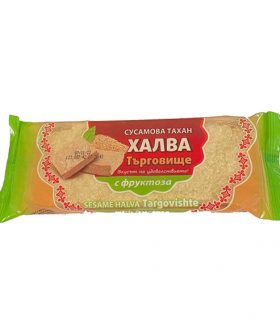 Sesame tahini halva with fructose
