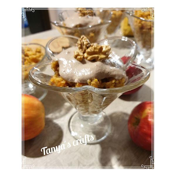 "Ябълков десерт с просо и сироп от фурми ""Д-р Кескин"""